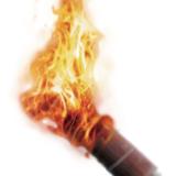 Fackel mit Feuer
